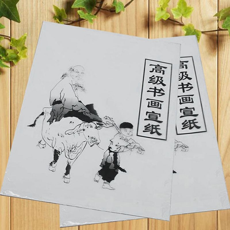 White Painting Paper Calligraphy Painting Xuan Paper Rice Paper Chinese Painting & Calligraphy 35.5cm*25.5cm Student Supplies