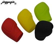 jingyuqin For Universal Decoration Auto Accessories Silicone Case Gear Head Shift Collars