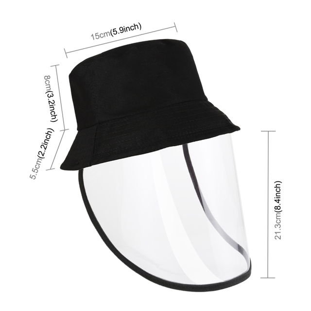 Children's anti-spray fisherman hat Anti-Saliva Goggle Anti-Spitting Anti-Fog Protective Cap Kids Fisherman Hat Face Shield 3