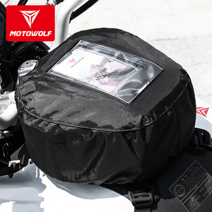 MOTOWOLF Motorcycle Bag Mochila Maletas Motorbike Black Bolso Motocicleta Oil Fuel Tank Bags Motos Waterproof Luggage