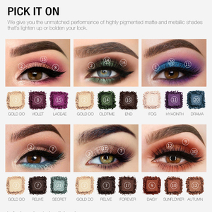 Image 3 - O.TWO.O Darling Eye Shadow Palette 21 Colors Matte Shimmer Pigmented Shadows Easy to Blend Rich Color Eyeshadow For Daily Use