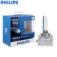 Philips Original D1S 85410WX 35W Xenon Ultinon HID 6000K Bright White Light Car Upgrade Headlight Lamps Flash Quick Start, Pair