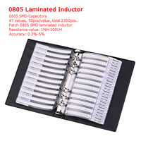 Professional Sample Book 0201 0402 0603 0805 Capacitor Chip Resistor Kit SMD SMT Chip Resistor Laminated Inductor