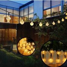 Solar-Light Christmas-Decoration Garden Outdoors Garlands Crystal-Ball Led-String LEDS