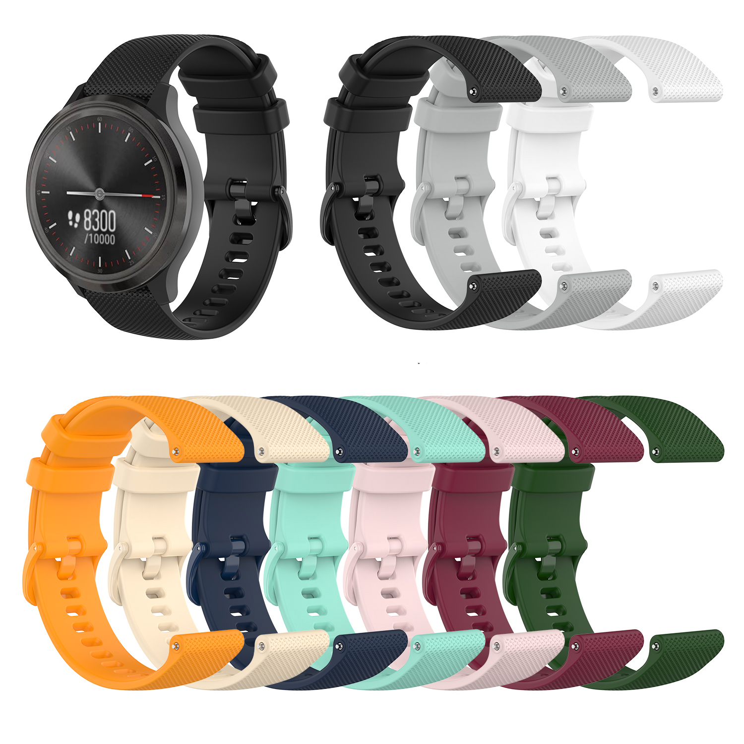 20mm  Bracelet For Garmin Vivomove3/Move Luxe/ Move Style/Vivomove HR Watchband Watch Replacement For Garmin Vivomove3 Band