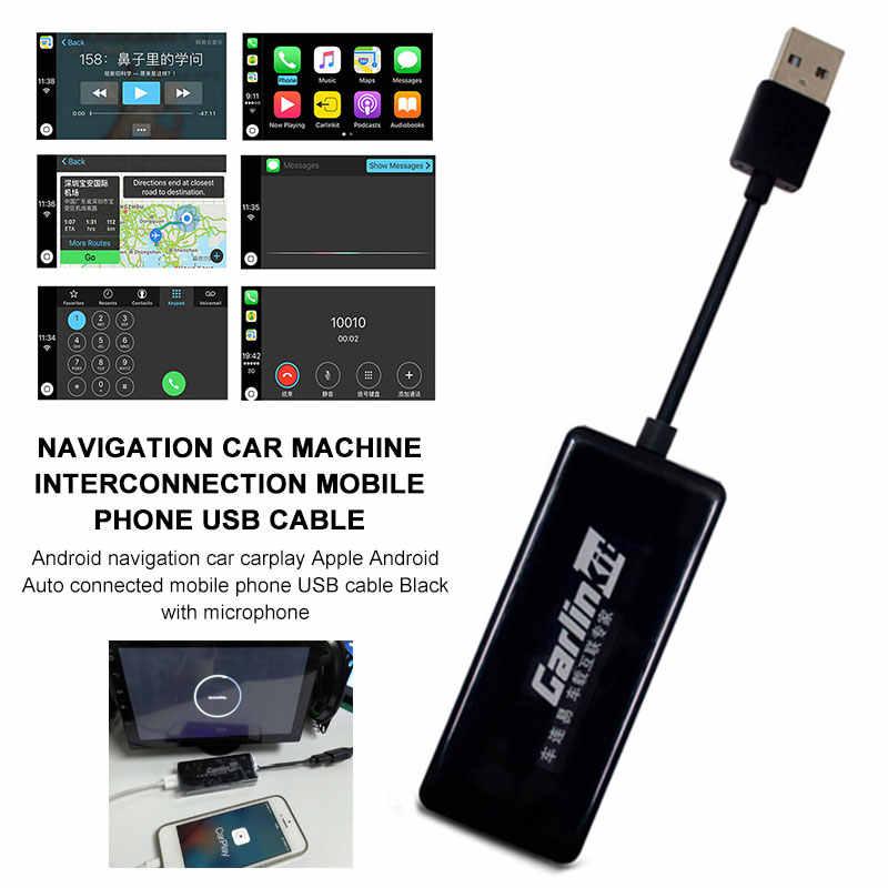 HD 1080 1080p ディスプレイ USB スマートリンク iPhone' carplay モードとナビゲーションプレーヤーミニ USB Carplay スティックアンドロイド自動