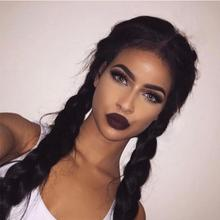Kinky Straight Hair Brazilian Virgin Weave Bundles Coarse Yaki Wig Human 2 Long Braid Extension Hairp