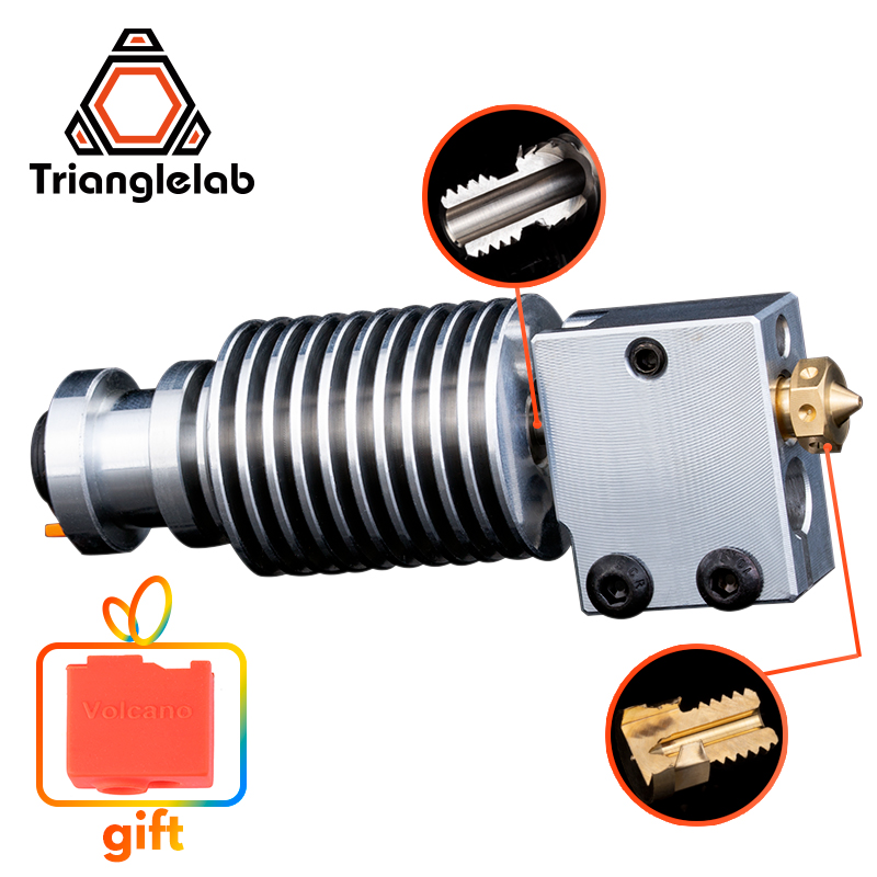 Trianglelab Highall-metal v6 Volcano hotend J-head Hotend HeatSink heater block heat break V6 Volcano NOZZLE  for E3D HOTEND
