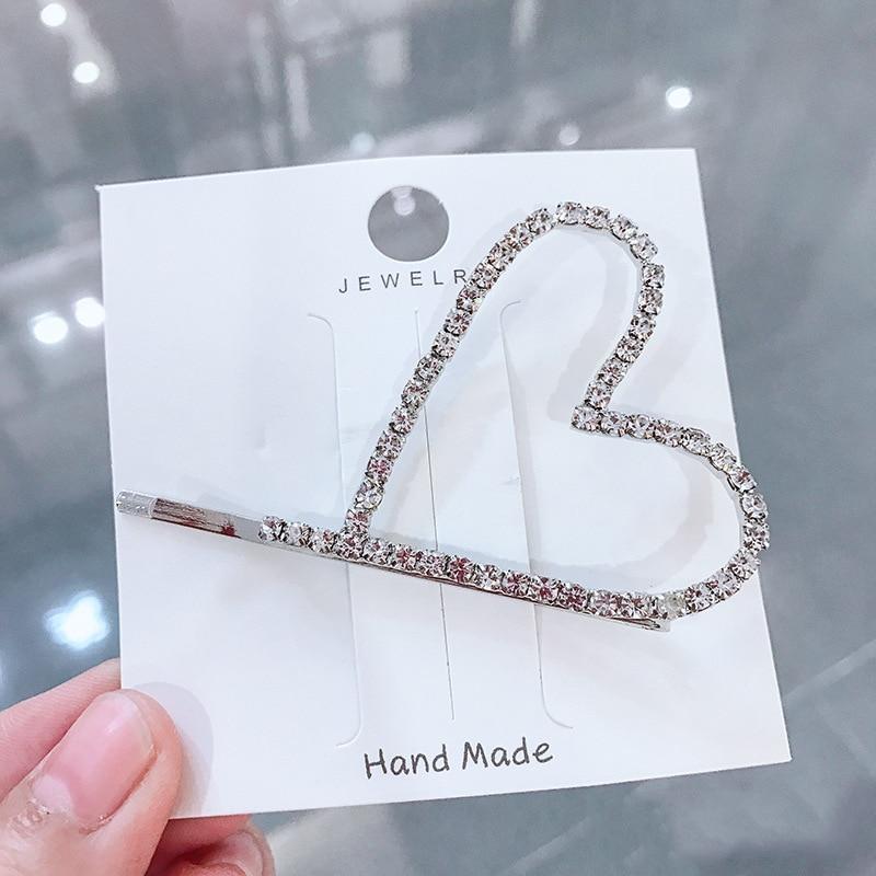 1Pc Fashion Crystal Tassel Hairpins Shinny Pearl Hair Clip Geometric Hollow Hair accessories Party Wedding Ceremony Rhinestone in Women 39 s Hair Accessories from Apparel Accessories