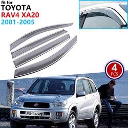 Voor Toyota RAV4 XA20 2001 2002 2003 2004 2005 Window Visor Vent Luifels Regen Guard Deflector Schuilplaatsen Cover Side Auto accessoires