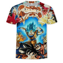 2019 New Dragon Ball Z slitta di estate degli uomini di 3D stampato super Saiyan Goku nero zenasu vegeta dragomball casual T-Shirt(China)