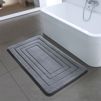 Absorbent Non Slip Bath Mat Washable Memory Foam Rug Safety Home Carpet Pad for Kitchen Toilet Bathroom Water Absorption Decor anti slip door mat non slip water absorption rug carpet bath pad flower mat bathroom bedroom decor bathroom supplies