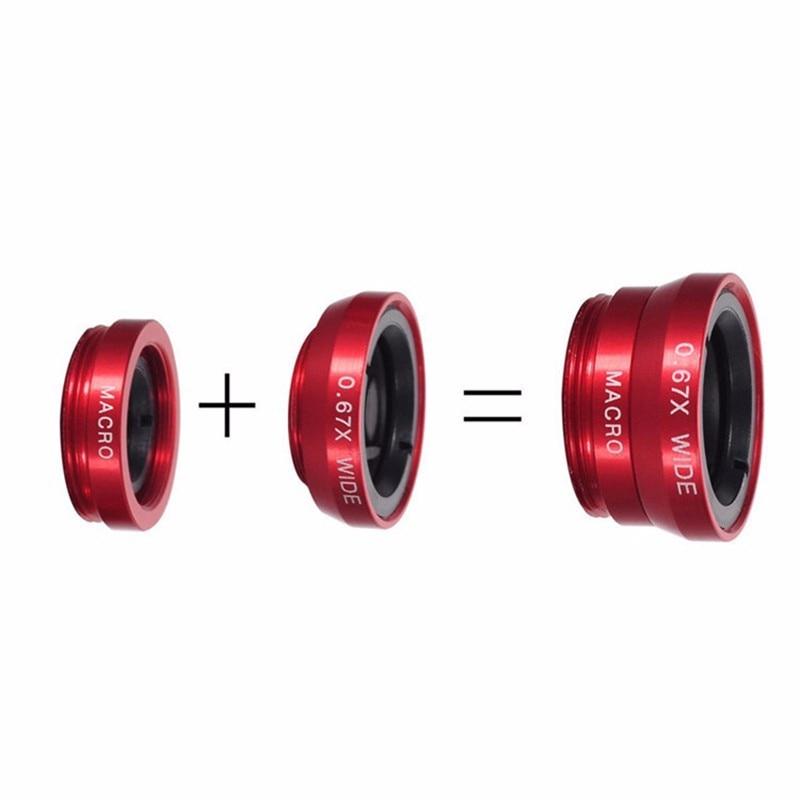 Широкоугольный мобильный телефон объектив камеры рыбий глаз Макро объектив для Iphone 7 8 6X11 Универсальный 3 в 1 смартфон Рыбий глаз объектив с зажимом