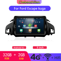 4G WIFI 9 inch Android 9.1 For Ford Kuga Escape 2013 2017 Car DVD GPS Navigation DVD Radio multimedia Player Bluetooth 32GB