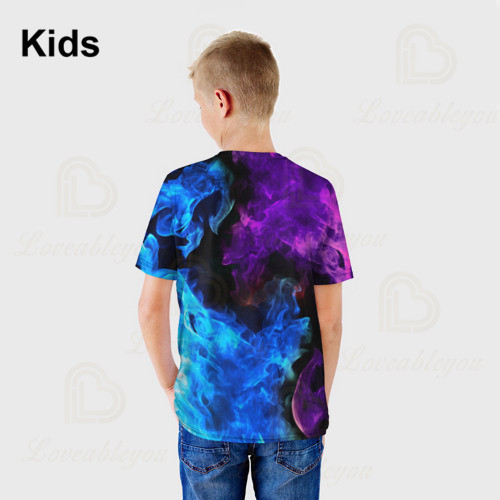 6 To 19 Years Kids Leon t shirts Brawling Spike and Star, Fashion Shooting Game PRIMO 3D Boys Girls Cartoon Tops Teen Clothes 3