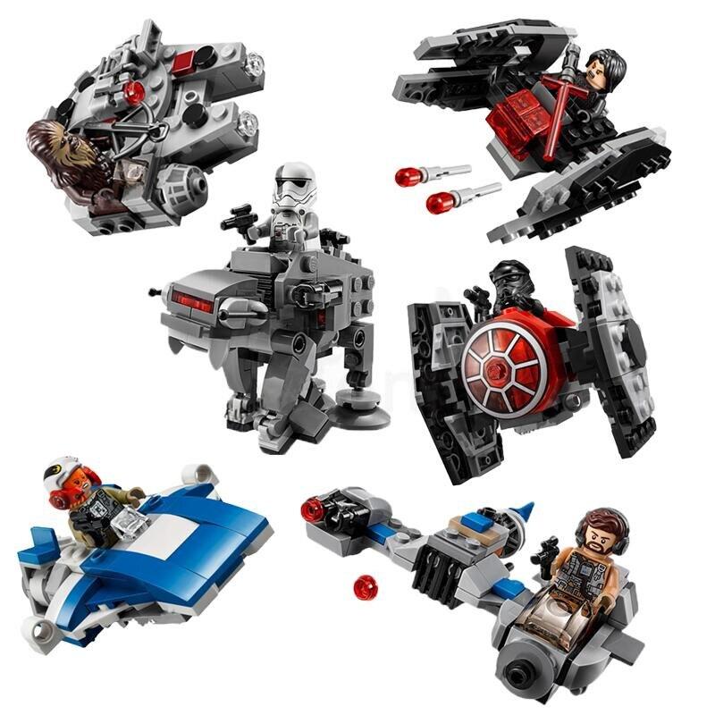 6pcs-set-font-b-starwars-b-font-microfighters-at-st-fighters-spaceship-building-blocks-bricks-starwar-toys