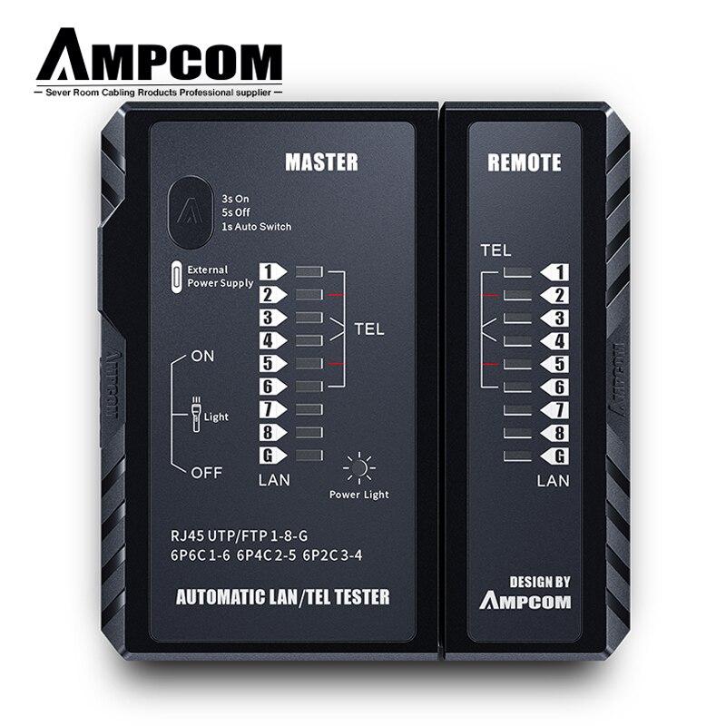 Сетевой Кабельный тестер AMPCOM rj45 RJ11 сетевой LAN Ethernet RJ45 Кабельный тестер инструмент LAN Сетевой Инструмент Ремонт сети