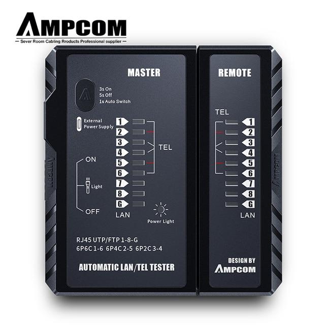 AMPCOM Network Cable Tester rj45 RJ11 Network LAN Ethernet RJ45 Cable Tester tool LAN Networking Tool network Repair