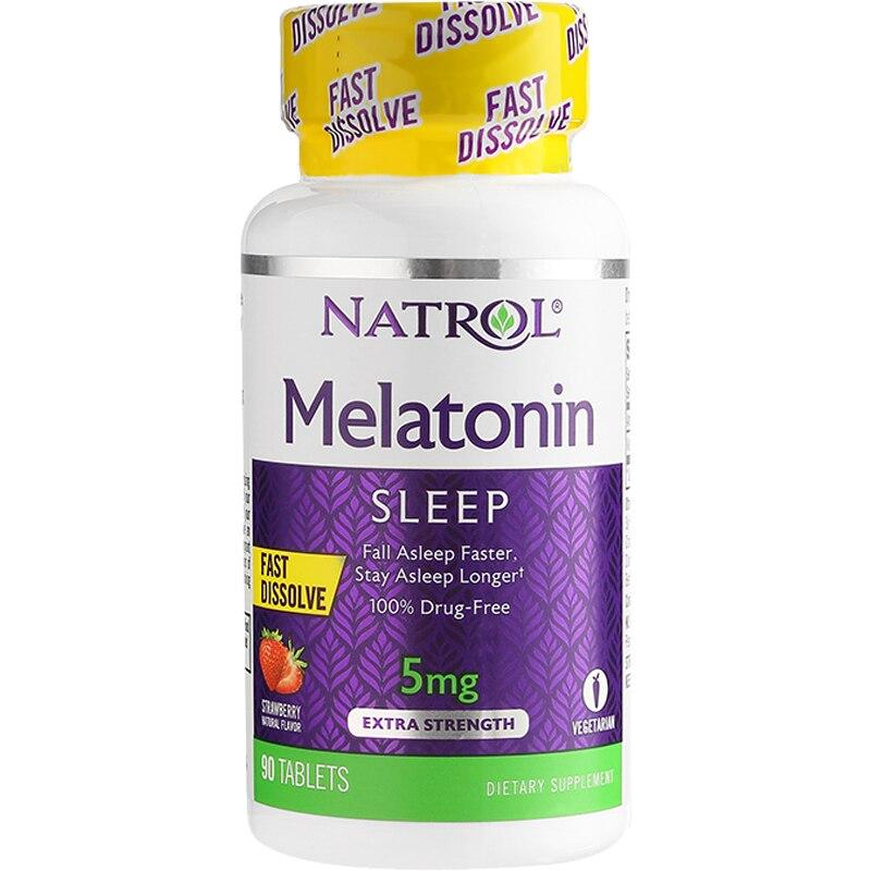 Natrol Melatonin 5mg*90pcs Fall Asleep Faster Stay Asleep Longer