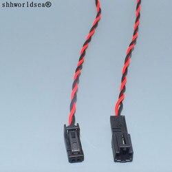 Shhworldsea 2pin 4B0971832 4B0 971 832 4E0 972 575 drzwi gniazdo lampy wnętrza LED lampka z wtyczką złącze głośnikowe dla Audi VW skoda