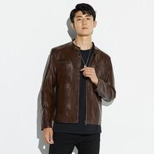 2019 Autumn Winter Men Moto Biker Leather Jackets Mens Plus Size 5XL Stand Collar Faux Jacket Casual Pu Coat