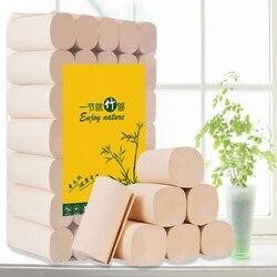 35 Rolls/Lotto 4 Strati Primaria Pasta di Legno Rotolo di Carta Igienica Bagno di Casa di Carta Igienica Rotolo di Carta Igienica Carta Velina rotolo