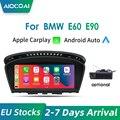Apple CarPlay Android Auto беспроводной дисплей 8,8 дюйма IPS для BMW Серия 3 5 E60 E61 E63 E64 M6 E90 E91 E92 без системы Android