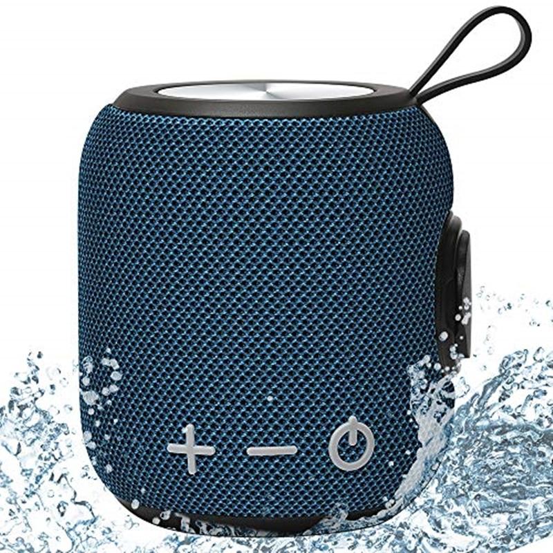 Высококачественная портативная Bluetooth мини-колонка, двойное сопряжение, Громкий Беспроводной 360 HD объемный звук и богатый стерео бас, 24 часа ...