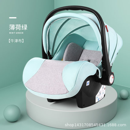 Newborn Basket Child Car Safety Seat Sleeping Bed Two-way Installation 5-point Seat Belt 0-18M
