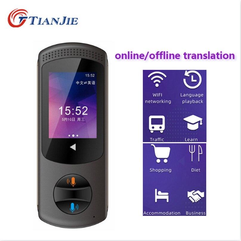 TIANJIE traducteur de caméra en ligne/hors ligne portable en temps réel tourisme voix 106 langues wifi tranlation poche photo traducteur