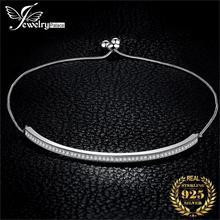 JewelryPalace 925 ayar gümüş bilezik yılan zincir Bolo bilezikler kadınlar için gümüş 925 takı yapımı organizatör