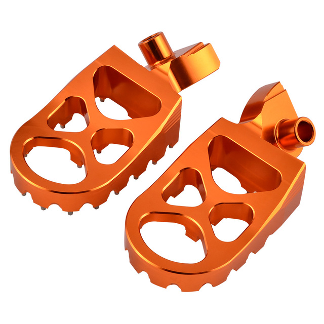 DE POST Foot Pegs Pedals Footrest Footpegs For 65 85 125 150 200 250 300 350 400 450 500 525 KTM SX SXF EXC EXCF XC XCF XCW XCFW 5