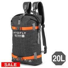 20л водонепроницаемый мешок треккинг сухой мешок Открытый водонепроницаемый рюкзак Рыбалка плавающий ролл-Топ Спортивная Сумка дрейфующий водонепроницаемый мешок