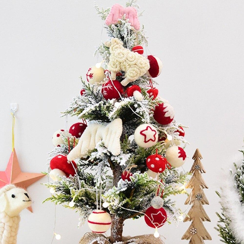 6pcs Merry Christmas Jingle Bell Ornaments Xmas Tree Hanging Pendants Home Decor