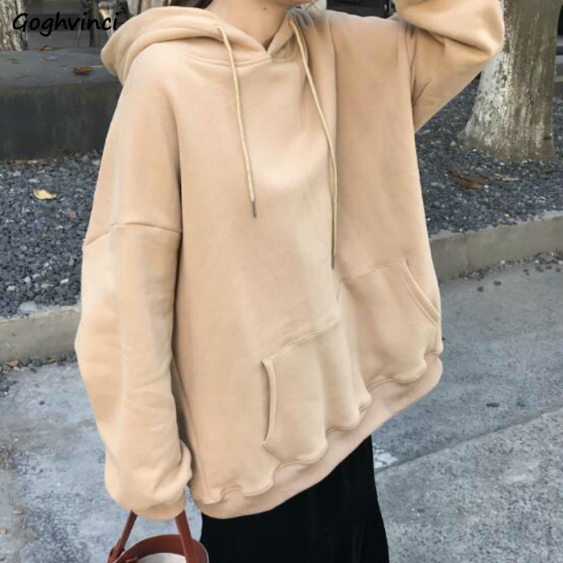 Hoodies Women Long Sleeve Korean Style Harajuku Hoodie Plus Size Casual Womens Clothing Females Hot Sale Comfortable Simple Chic