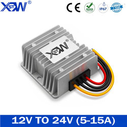 XWST 12V to 24V 5A 8A 10A 15A Boost DC DC Converter 12 Volt Step-up to 24 Volt Power Voltage Regulator For Car LED Free Shipping