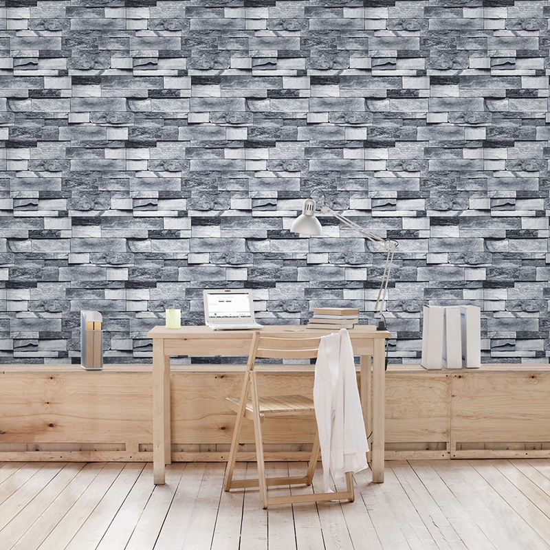 6M Modern Vintage Brick Textured Wallpaper For Walls Decor Embossed 3D Wall Paper Rolls