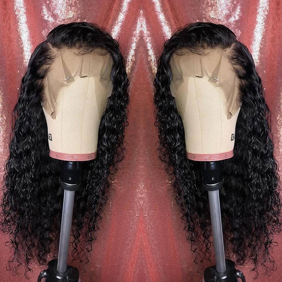 Brazilian Deep Wave Lace Front Human Hair Wigs Pre Plucked Wig 13x4 8-26 Inch Virgo 150% Remy Human Hair Lace Frontal Wigs