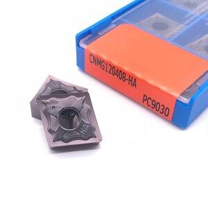 Image 5 - Hohe Qualität CNMG120404 CNMG120408 HA PC9030 Externe Drehen werkzeug hartmetall einsatz für edelstahl