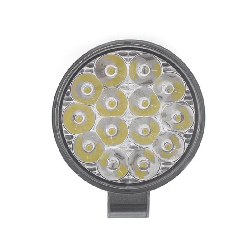 Round Offroad LED Work Light Bar 14LEDs 42W Mini Spot Beam 12-24V 6500K Truck SUV ATV Tractor Driving Fog Lamp LED Light Bars