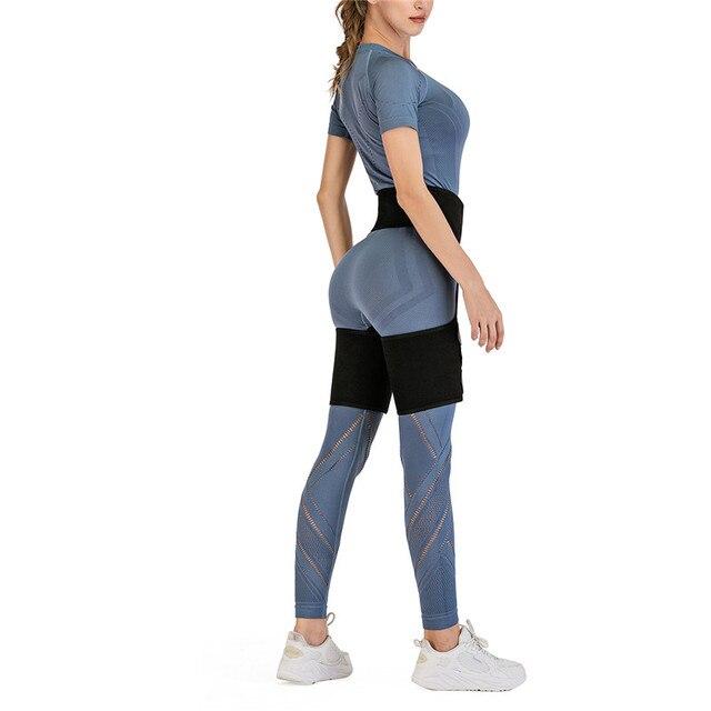 Women Sports yoga Knee Sleeve Woman Sweat Thigh Trimmers Leg Shaper  Belt Control Panties Fat Burning Wraps Thermo Belt 3