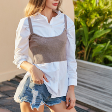 Women Knitted Tank Tops Sexy V-Neck Sleeveless Crop Top Female Casual Underwear Ribbed Short Vest Cropped Tee Camisole