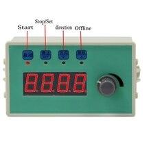 Geschwindigkeit RPM anzeige Stepper Servo Motor Controller Board Geschwindigkeit Einstellbar Umkehr Feste länge kontinuierliche runde reise