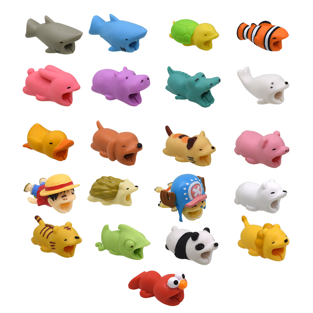 TISHRIC Cartoon Animal/USB Cable Protector For Iphone Charger Protector Wire Holder Cable