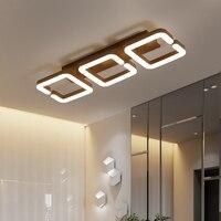 현대 Led 샹들리에 천장 라이터 거실 침대 룸 Lamparas Techo 조명기구 AC220V 커피 색상 완료 샹들리에    -