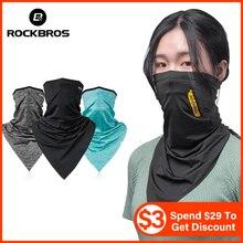 Scarf Bandana Face-Mask Bike Bicycle Ice-Fabric Sun-Protection ROCKBROS Riding Fishing