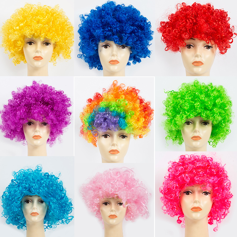 Fans Explosion Head Wig Dance Bar Wedding Party Dress Props Wig Funny Fluffy Funny Clown Cosplay Wig Hat