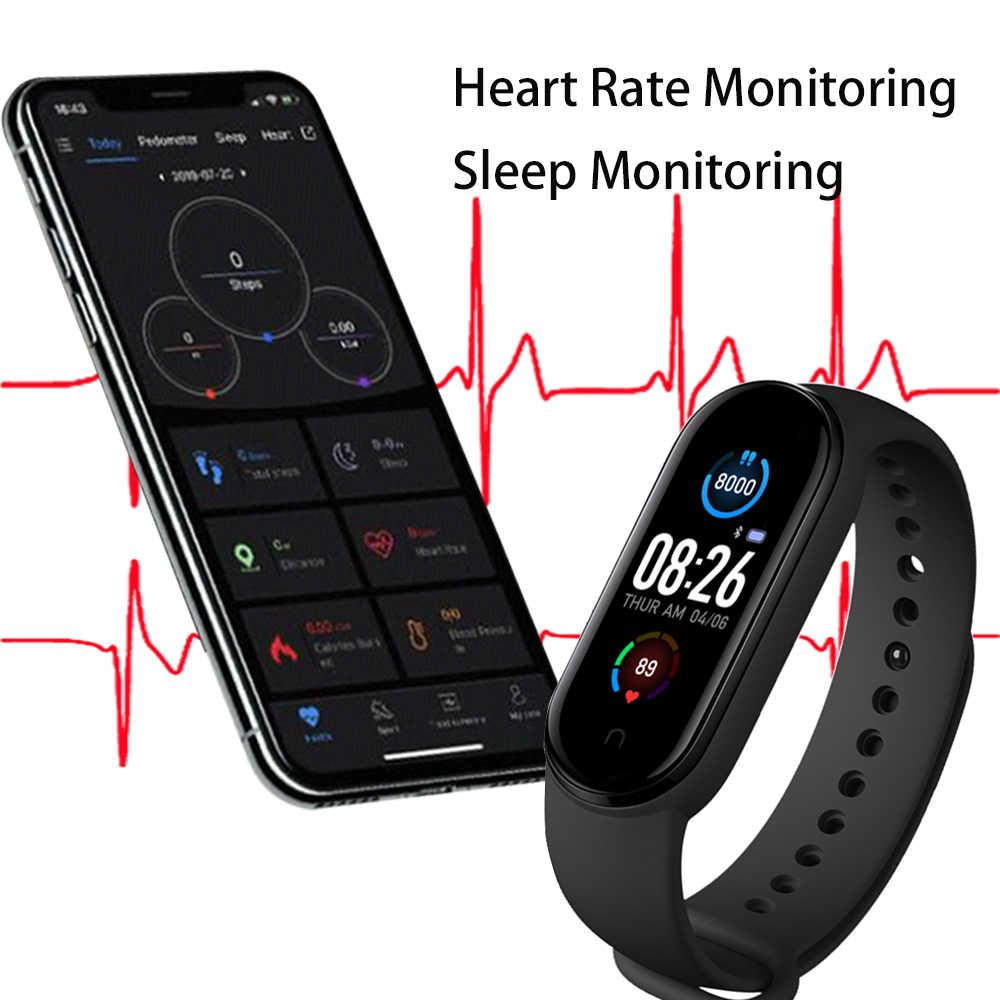 M5 Smarth montre Sport Fitness Tracker podomètre fréquence cardiaque tensiomètre Bluetooth M5 bande Bracelet intelligent hommes femmes