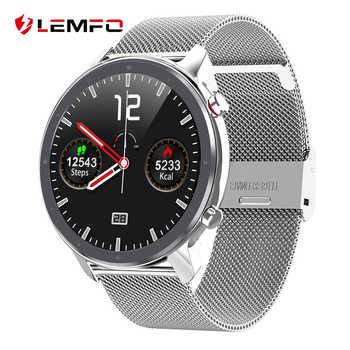 LEMFO L11 EKG Smart Uhr Männer 1,3 Zoll HD Full Touch Bildschirm IP68 Wasserdicht Heart Rate Monitor Sport Smartwatch 60 tage Standby