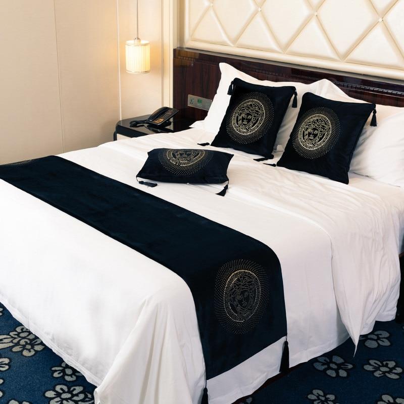 Luxury European Velvet Venus Head Hot Drilling Rhinestone Sofa Cushion Cover Home Hotel Bedroom Pillowcase Bed Runner